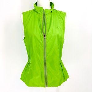 Polo Golf Ralph Lauren Green Drawcord Zipper Vest